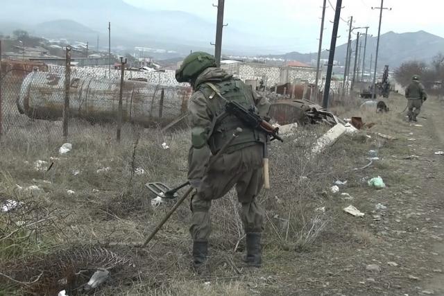Российские саперы разминируют территорию Нагорного Карабаха