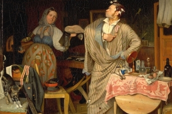 Павел Федотов. Свежий кавалер. Утро чиновника, получившего первый крестик. 1848