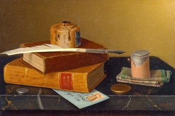 Уильям Харнетт. Стол банкира, 1877