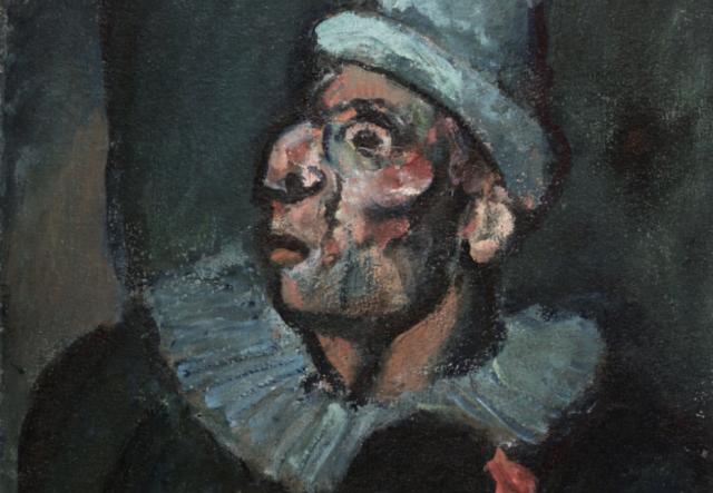 Жорж Руо. Безумный клоун (фрагмент). 1907