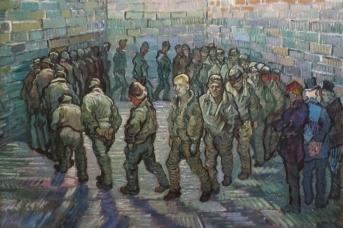 Винсент Ван Гог. Прогулка заключённых. 1890,