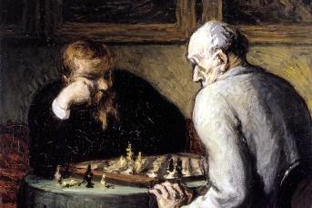 Оноре Домье. Шахматисты.1867,