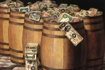 Виктор Дюбрейль. Бочки с деньгами. 1897