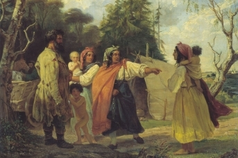 Франц Рисс. Цыганский табор в лесу. 1842,