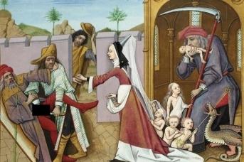 Европейские ценности (Фрагмент картины Робине Тестара. Нравоучительная книга о шахматах любви. 1401)
