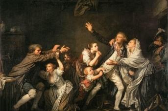 Жан-Батист Грез . Проклятие отца: Неблагодарный сын. 1777