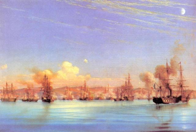 Николай Красовский. Бомбардировка Севастополя англо-французским флотом. 1905
