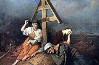 Василий Перов. Сцена у могилы. 1859