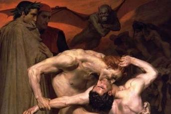 Вильям-Адольф Бугро. Данте и Вергилий в аду. 1850