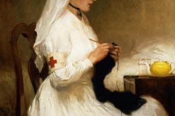 Габриэль Николет. Портрет медсестры из Красного Креста. 1914