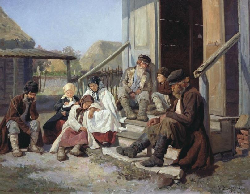 Николай Петрович Загорский. У земской больницы. 1880-е,