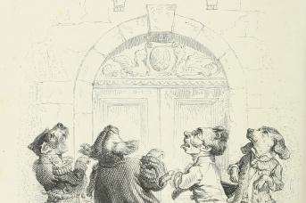 Жан Гранвиль. Пословицы. За деньги и собаки танцуют. 1845