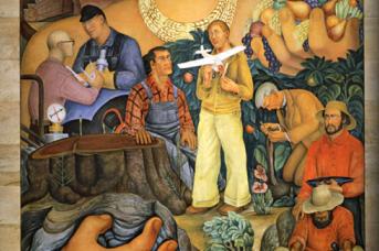 Диего Ривера. Аллегория Калифорнии. 1931