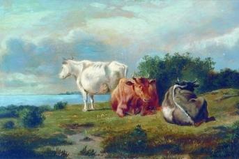 Михаил Клодт. Три коровы,