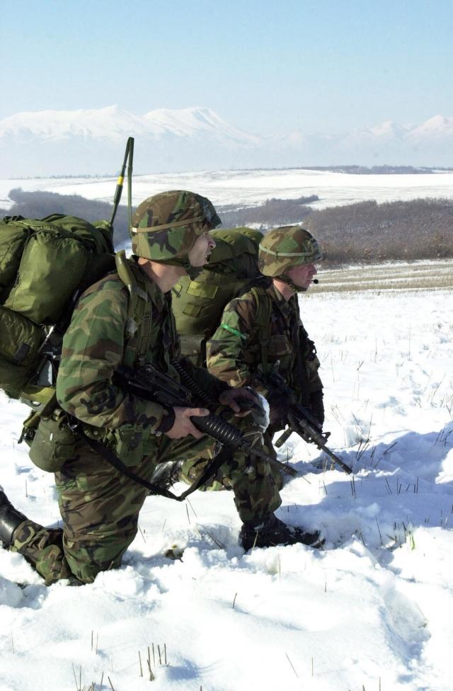 Американские солдаты в Косово