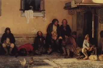 Григорий Мясоедов. Земство обедает. 1872