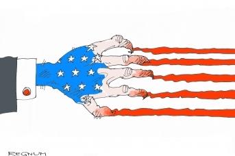 Флаг США. Рана. Кровь , Александр Горбаруков © ИА REGNUM