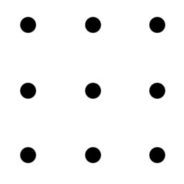 Рис. 2. Исходные условия задачи 9 точек