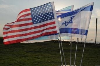 Флаги США и Израиля. U.S. Department of Defence