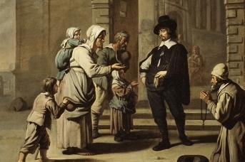 Авраам Виллемсенс. Нищета у входа. 1660