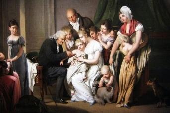 Луи-Леопольд Буальи. Врач, прививающий маленького ребенка (фрагмент). 1807