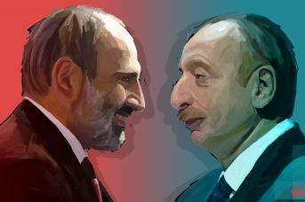 Никол Пашинян и Ильхам Алиев. Иван Шилов © ИА REGNUM