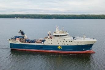 Новый траулер АТФ «Баренцево море»