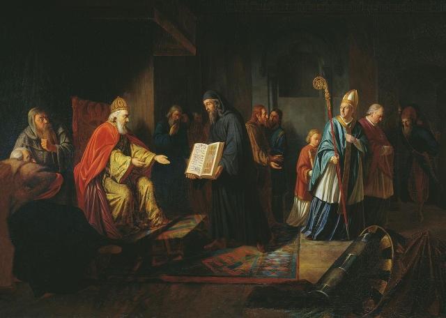 Иван Егорович Эггинк. Великий князь Владимир избирает религию. 1822