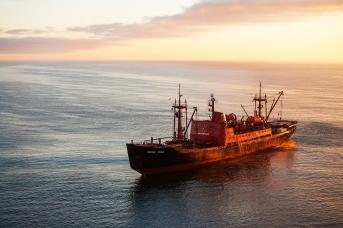Научно-исследовательское судно СУГМС «Михаил Сомов». Фото пресс-службы СУГМС