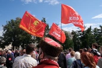 На встрече с депутатами КПРФ — казак