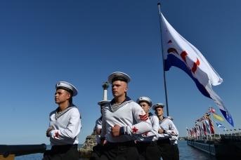 Открытие парада ВМФ