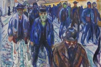 Эдвард Мунк. Рабочие на пути домой. 1915