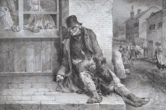 Теодор Жерико. Нищий старик (фрагмент). 1821