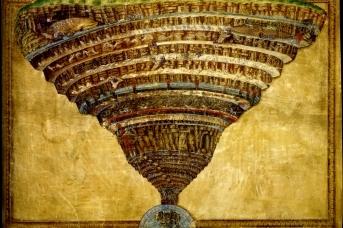 Сандро Боттичелли. Иллюстрации к «Божественной комедии» Данте. Круги ада. ок. 1480