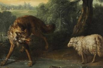 Жан-Батист Удри. Волк и ягненок. 1740