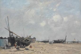Эжен Буден. Берк, на пляже. 1880