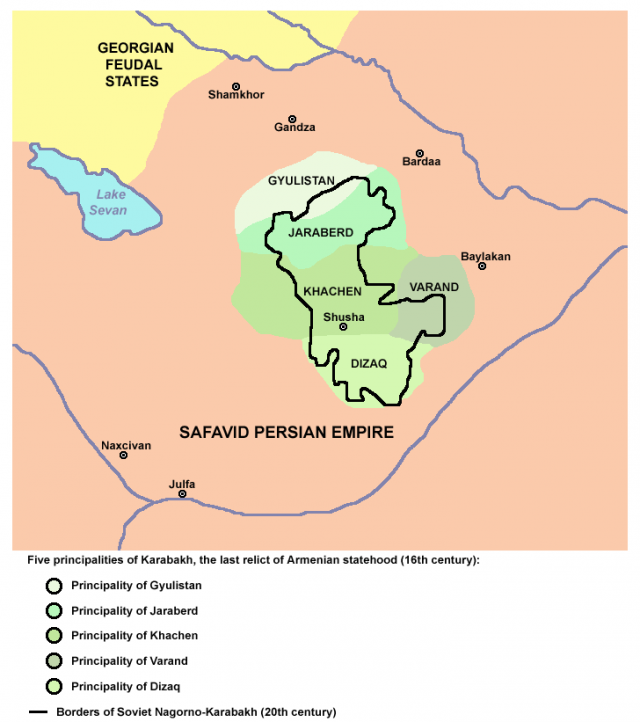 5 армянских меликств Карабаха (Арцаха)