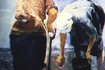 Юрий Пименов. Сажают картофель. 1943