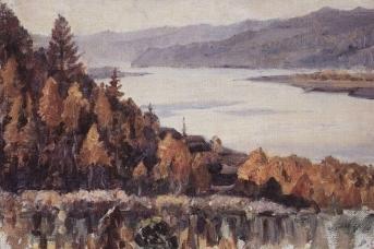 Василий Суриков. Енисей у Красноярска. 1909