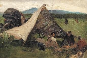 Петр Кончаловский. В Минусинских степях. 1902,