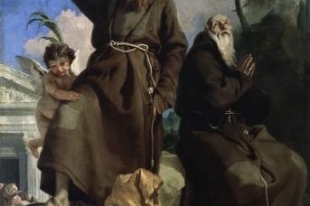 Джованни Баттиста Тьеполо. Святые Фиделий Сигмарингенский и Иосиф из Леонессы, попирающие ересь (1696-1670)