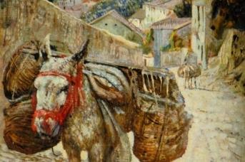 Исаак Бродский. Ослик. Гренада. 1909,