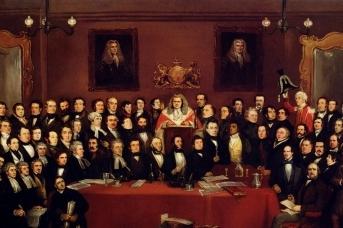 Арчибальд Хеннинг. Судья и присяжные (фрагмент). 1843,