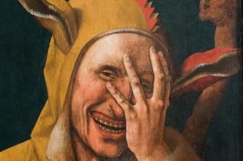 Якоб ван Остзанен. Смеющийся шут (фрагмент). 1500