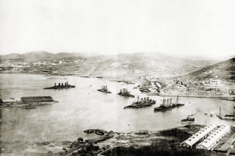 Порт-Артур с горы. 1905