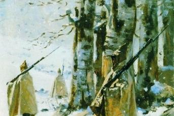 Василий Верещагин. Пикет на Балканах. 1878