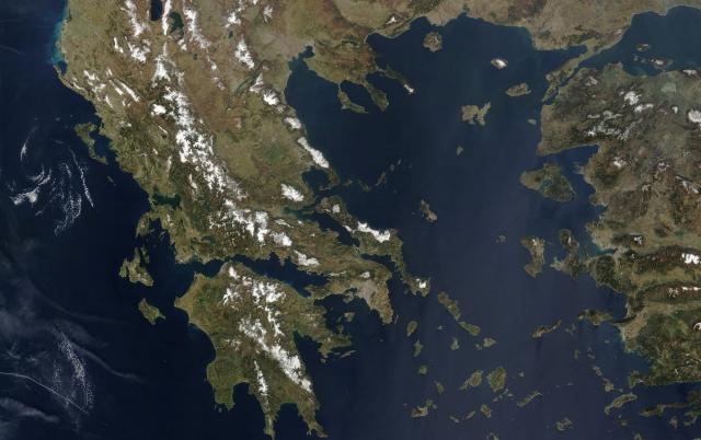 Балканcкий полуостров. Вид из космоса