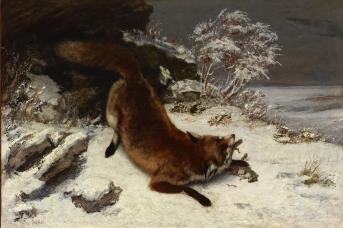 Гюстав Курбе. Лисица на снегу. 1860