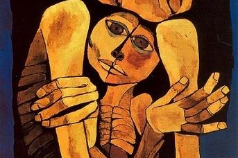 Освальдо Гуаясамин. Нежность. 1989