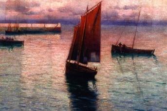 Михаил Ткаченко. Парусник. Средиземное море. 1893